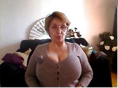 Audrey sexy 70 year old granny being photographed on SKYPE