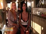 Sexy blonde and brunette babes get horny part6