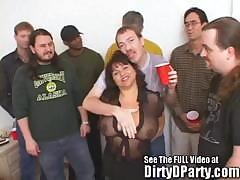 Susie's Gang Bang Bukkake Party With Dirty D