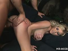 Big tits bouncing as she fucks