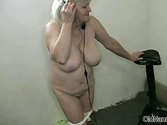 Big Tits Horny Grandma Loves Dancing Part1