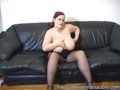 Chubby Jerk Off Teacher Got Her Big Bouncy Tits Exposed For