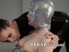 fluent-strapon-lesbians-in-mask-playing