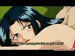 Hentai Girl Gets Licked Her Hairy Pussy