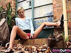 skinny-amateur-blondie-outdoor-toying