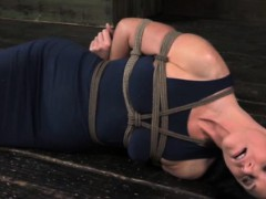 hogtied-sub-has-belt-tied-around-her-neck