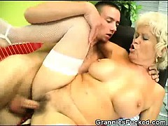 granny gets fucked and gets a mouthful of sperm