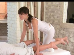 Hot Brunette Babe Gets Horny Rubbing Part5