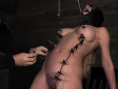 slave-masked-sub-punished-with-pegs