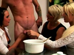 cfnm-euro-cougars-collecting-cum-for-their-cum-bucket-challe