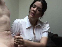 clothed-brit-mistress-tugs-dick
