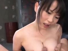 akane yoshinaga bangs cock with massive cans
