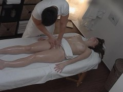 sensual oil massage and poking sexy