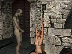 Foxy 3d Redhead Babe Getting Fucked By A Goblin