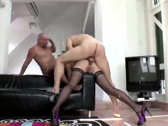 British Lady In Stockings Getting Double Penetration