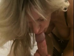 perfect milf blowing the cock