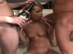 sexy-milf-blonde-sucking-2-white-cocks-group