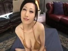 Busty Japanese Milf Giving A Blowjob Pov