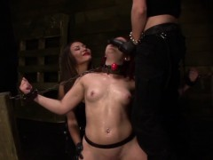 Submissive Redhead Throatfucked On A Sybian