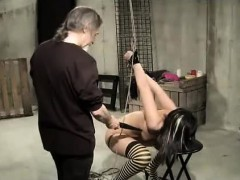 Pussy Clamped Shocked And Whipped