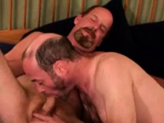 Mature Bear Gets A Mouthful Of Cock