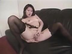 Korean Girl Masturbates And Sucks On A Cock