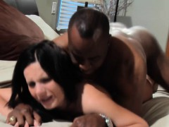 Whore Wife Gets Black Creampie In Her Pussy