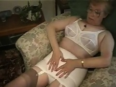 granny in glasses shows off her boobs granny sex movies