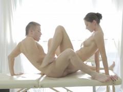 xxx massage video of sexy brunette screwed in the ass sexy