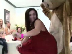 strippers get blowjobs from group of cfnm amateurs