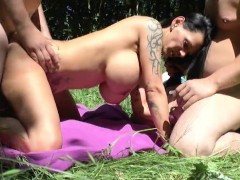 german-monster-tit-milf-get-fucked-outdoor-by-two-young-boys