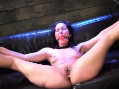 tiedup-brunette-gets-pussy-dildoed-and-licked