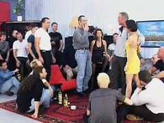 Mature Whore Sucks And Fucks In A Gangbang