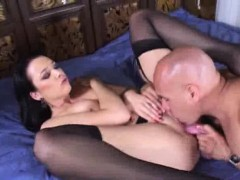 dildo play ends with huge penis sucking