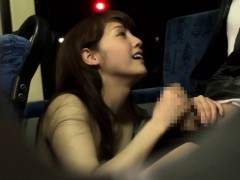 Asian Babe Wanks And Facialized On Public Bus