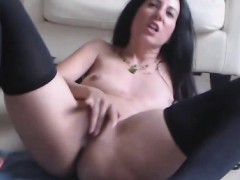 hot-brunette-swallows-a-dildo-toy