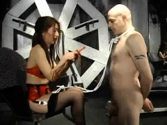 Tied Up Slave Licks Dominatrix's Pussy