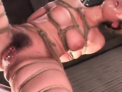 tied-up-asian-gets-holes-dildoed