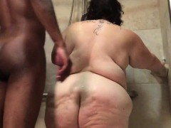 White Fattie Fucked In The Shower By A Bbc