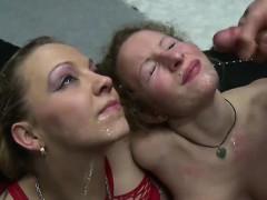 Two Horny German Sluts Enjoying Tons Of Jizz