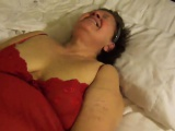 Mature BBW gets mouth fucked while she toys her cunt