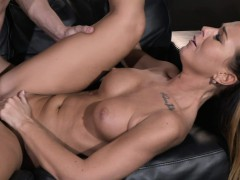 mom cute horny and tanned milf rides young studs big cock