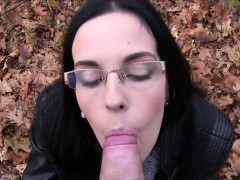 amateur sucks fake agents dick outdoors