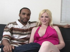 Pale blonde fucked by a black stud