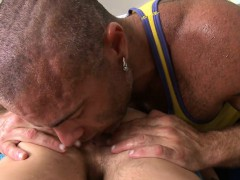 guy gives this virginal man a nice humping – Gay Porn Video