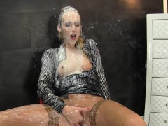 Glam european gets messy