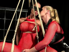 Lesbian Mistress And Her Slaves