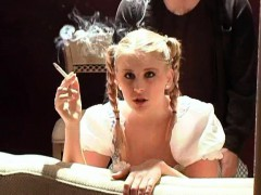 pigtailed-blonde-gets-hammered-from-behind-while-smoking-a