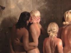 monster sexy lesbians orgy in a bath tub