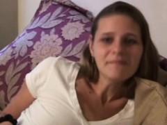 Amateur Retro Babe Cockriding Before Cumshot